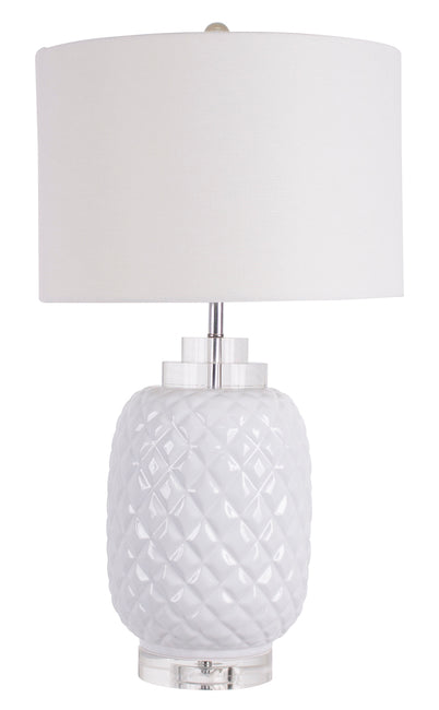 Island White Table Lamp gloss ceramic - Notbrand