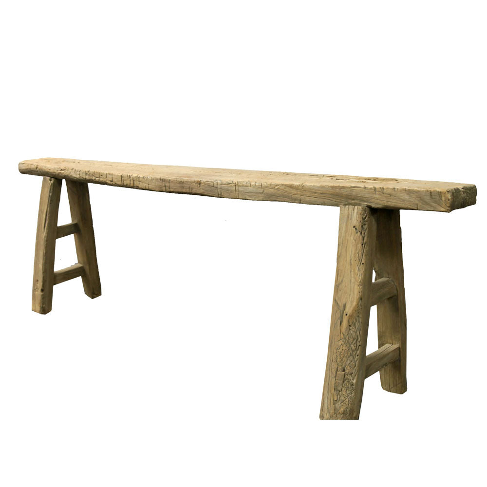 Gabbar Old Antique Elm Bench Seat - Notbrand