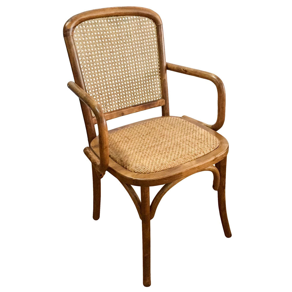 Anton Rattan Dining End Chair - Notbrand