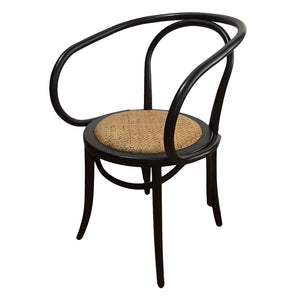 Serena Rattan Dining Chair Black - Notbrand