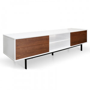 Martha Lowline TV Entertainment Unit - Walnut 2m - Notbrand