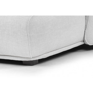 Gracia 3 Seater Right Chaise Sofa - Light Texture Grey - Notbrand