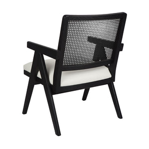 The Imperial Arm Chair - Black Frame w White Linen - Notbrand