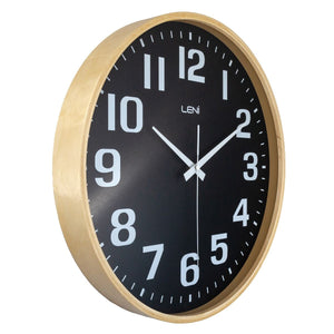 Leni Wood Wall Clock 40cm Black - Notbrand