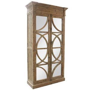Keats Mirrored Armoire 2 Door Storage Cabinet Armoire - Notbrand