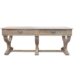 Curtis 2 Drawer Large Console Natural Reclaimed Pine - Notbrand
