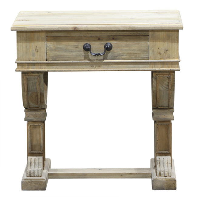 Curtis Natural Look Bedside Table - Notbrand