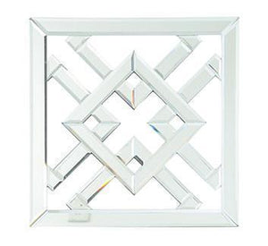 Symmetry Diamond Mirrored Wall Art - Notbrand