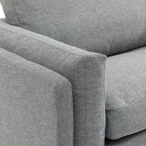 3 Fabric Seater Sofa - Graphite Grey - Notbrand