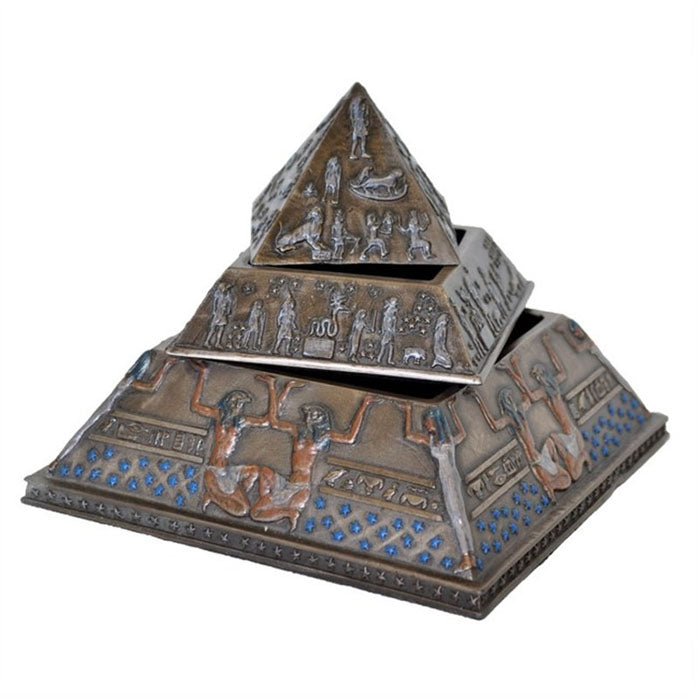 Pyramid 3 Layer Trinket Box - Notbrand