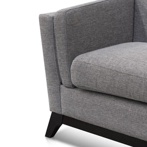 Ghin 3 Seater Sofa - Graphite Grey - Notbrand