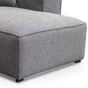 Ogean 3 Seater Right Chaise Sofa - Graphite Grey - Notbrand