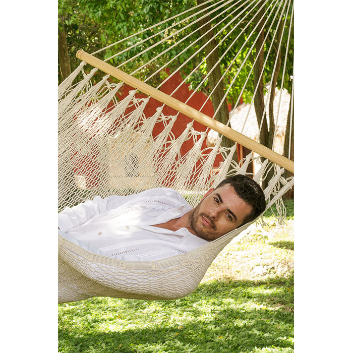 Resort Mexican Hammock with NO Fringe in Cream - Notbrand
