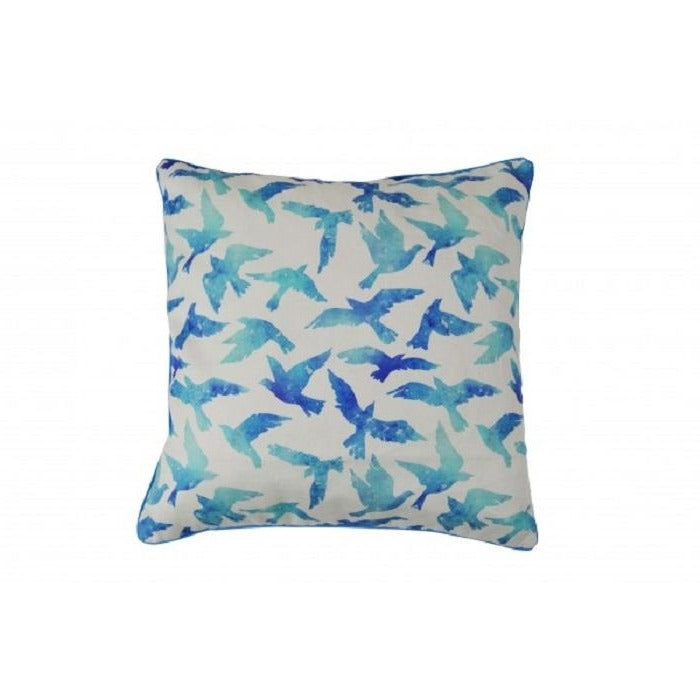 Blue Birds Cotton Cushion Cover - Notbrand