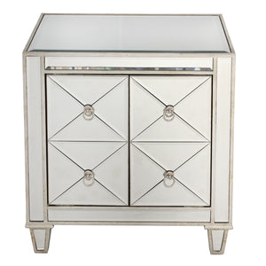 Bently Mirrored Bedside Table - Notbrand