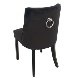 Ophelia Black Velvet Dining Chair - Notbrand