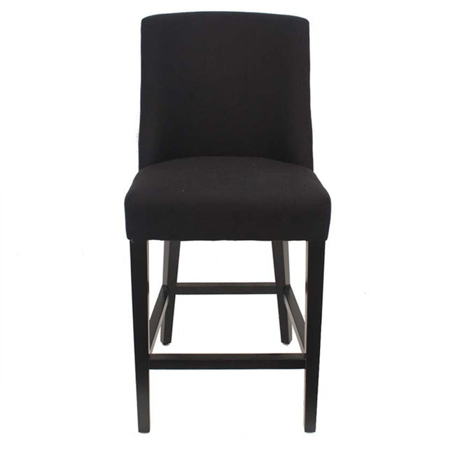 Ophelia Chrome Ring Barstool Black - Notbrand