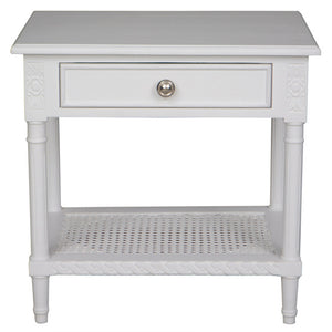 Polo Side Table / Bedside White - Notbrand