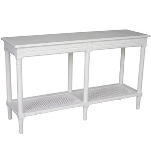 Polo Long Console Table White - Notbrand