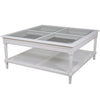 Polo Square Coffee Table White Rattan - Notbrand