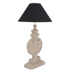 Montgomery Table Lamp Hand Carved Mindi Wood - Notbrand