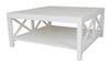 Catalina Crossed White Coffee Table - Notbrand