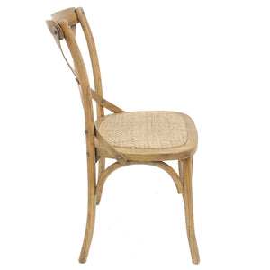 Cross Back Dining Chair Natural - Notbrand