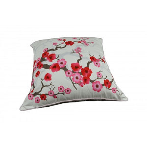 Cherry Blossom Cotton Cushion Cover with piping