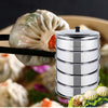 5 Tier Stainless Steel Steamers With Lid - 28cm - Notbrand