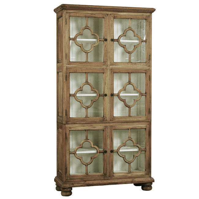 Roosevelt Display Cabinet Mahogany Antique Oak Finish - Notbrand