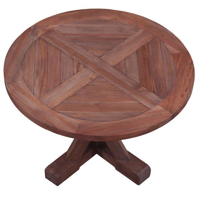 Country Cottage Trestle Round Dining Table - Notbrand