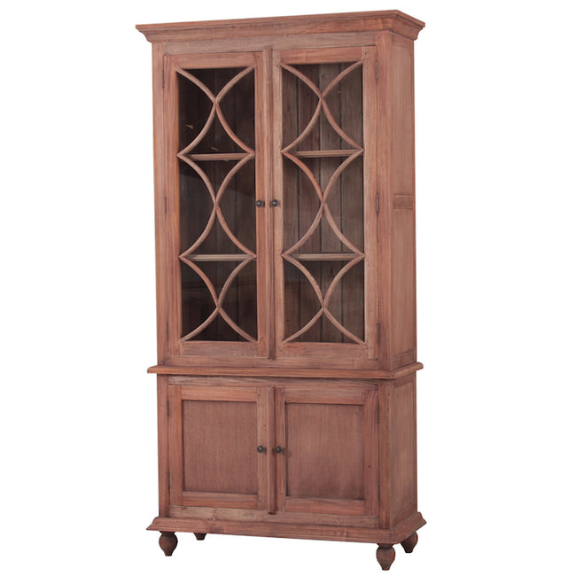 Country Cottage Display Cabinet Natural - Notbrand