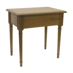 Mindi Wood Side Table Hidden Draw - Notbrand