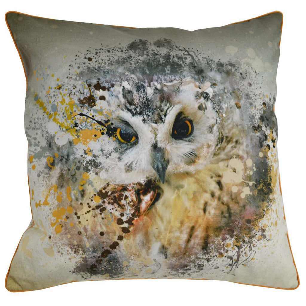 Owl Cotton Cushion Cover - Notbrand