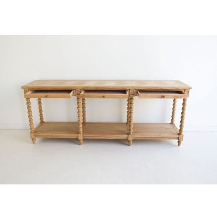 Stradbroke Bobbin 3 Drawer Console Table - Notbrand