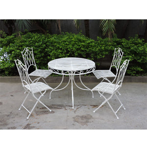 Set of 5 Piece Albany Wrought Iron Dining Set - Notbrand