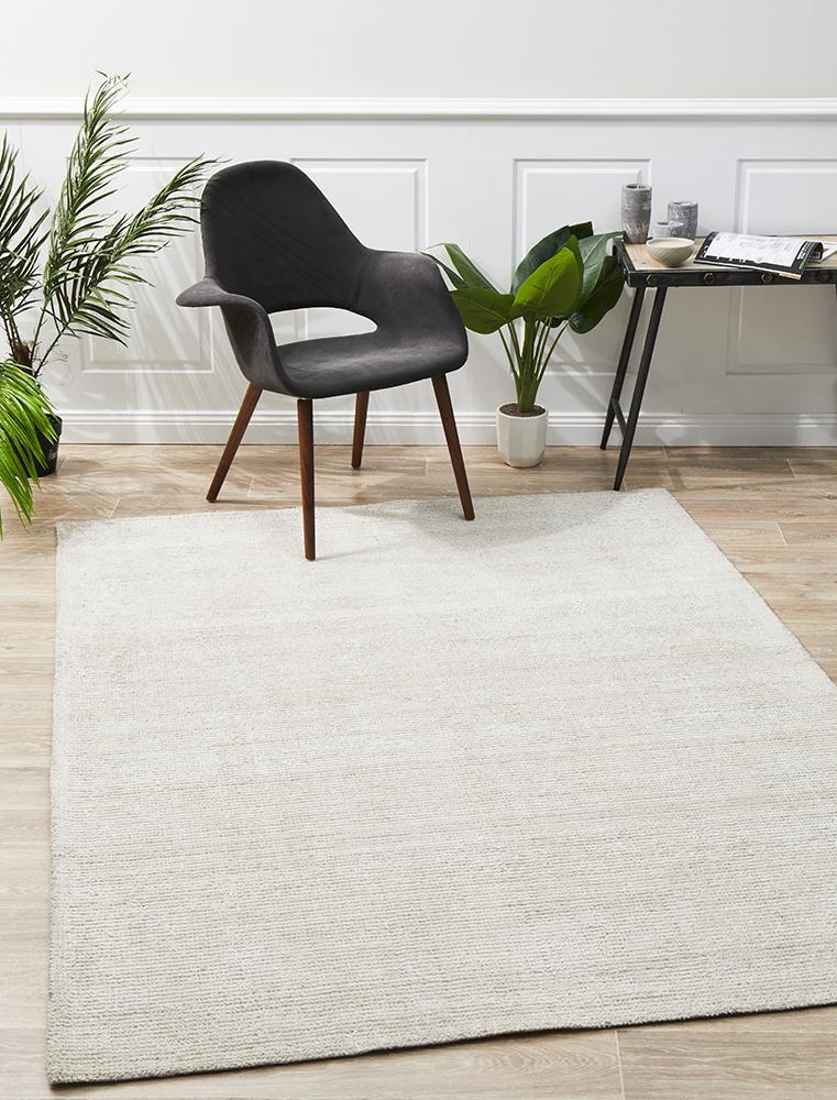 Presley Ivory Cotton Rayon Rug - Notbrand