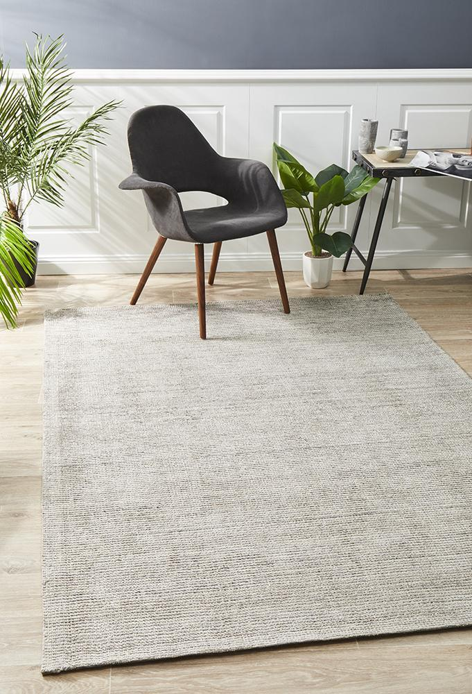 Presley Stone Cotton Rayon Rug - Notbrand
