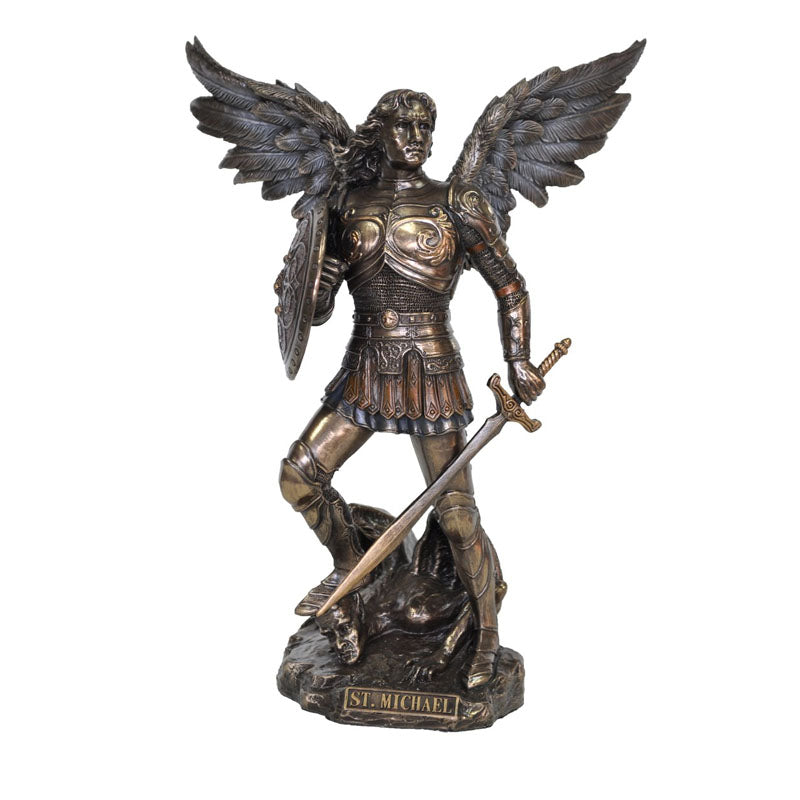 Archangel Michael Bronze Figurine Small - Notbrand