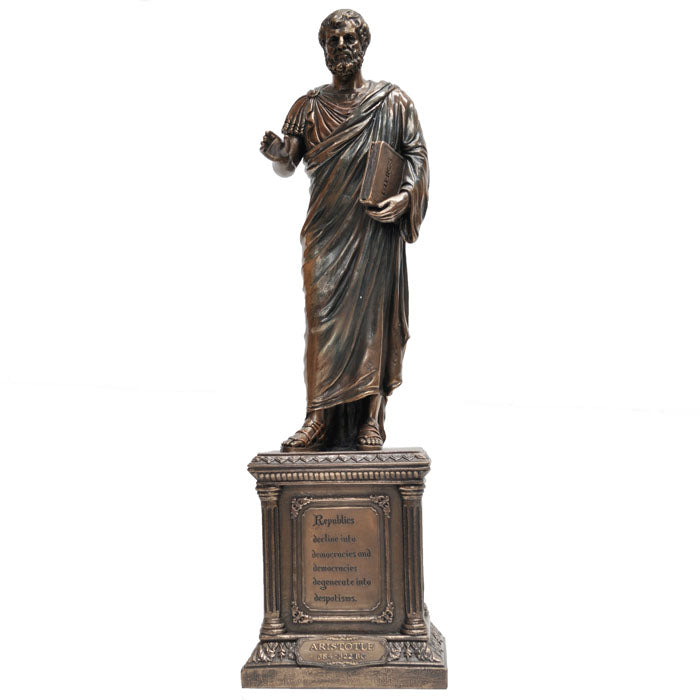 ARISTOTLE - Greek Philosopher Bronze Figurine - Notbrand