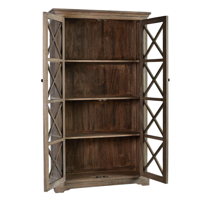 Atticus Mango Wood Display Cabinet