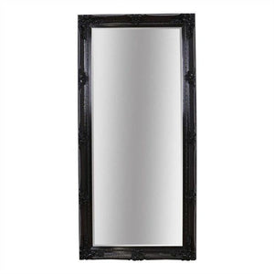 Aurora Ornate Leaner Mirror Black - Notbrand