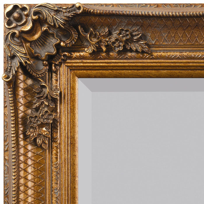 Aurora Ornate Leaner Mirror Gold - Notbrand