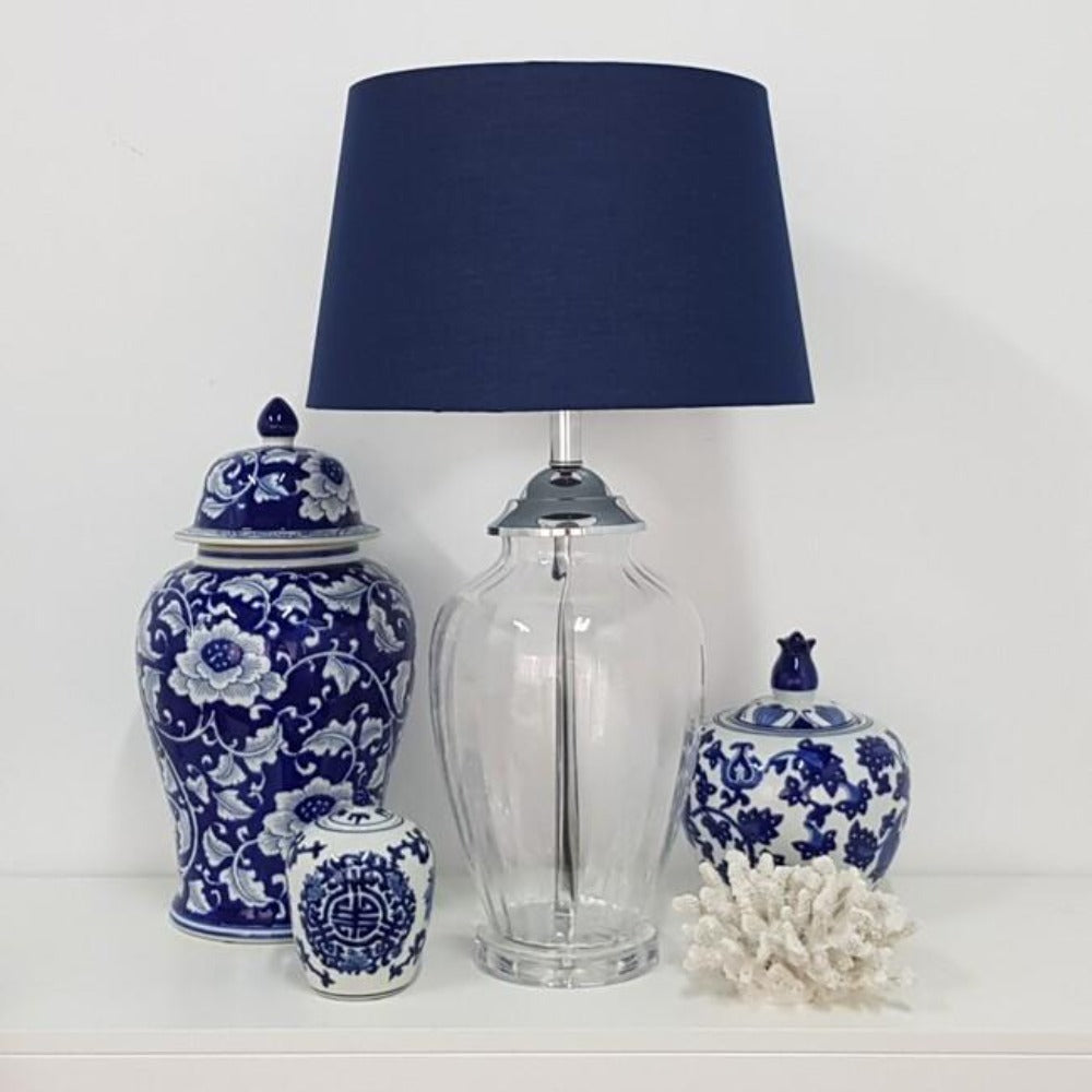 Addison Table Lamp Navy Blue 67cmh