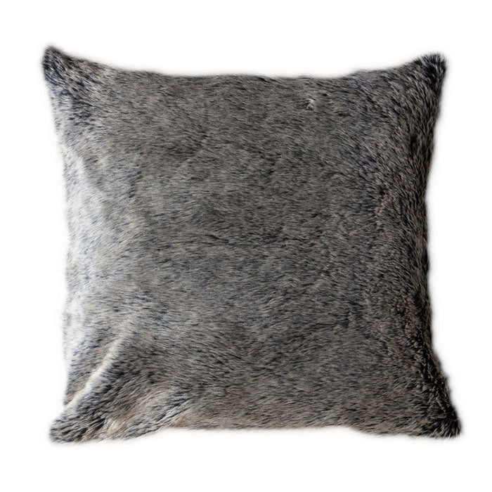 Alaskan Wolf Cushion Grey