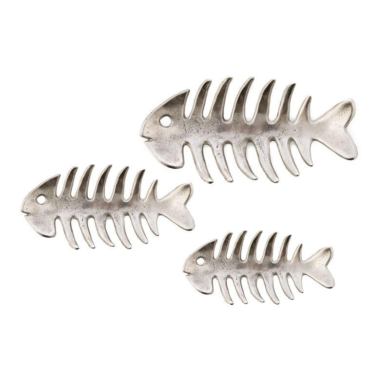 Set of 3 Aluminium Fish Wall Art - Notbrand