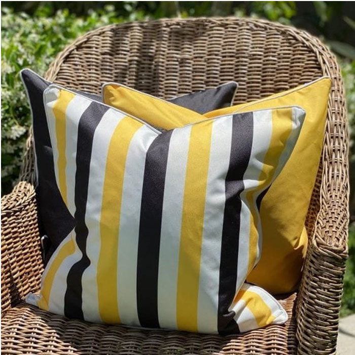 Amalfi Black / Yellow Cushion