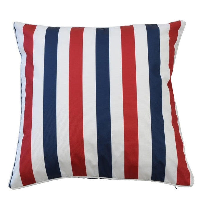 Amalfi Navy / Red Cushion - Notbrand