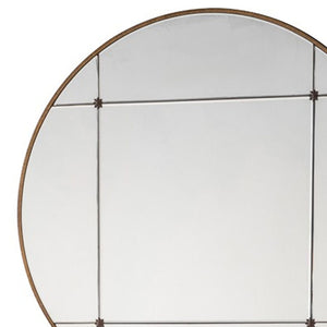 Nora Round Wall Mirror Antique Gold - Notbrand