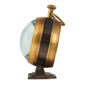 Australian 1930 Penny Curved Glass Table Clock - Brass - Notbrand